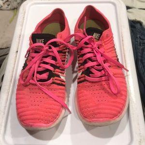 Pink nike free runs